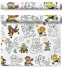 HarFri Wipe-clean tablecloth for colouring in