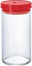 Hario 1000 ml Glass Canister, Red