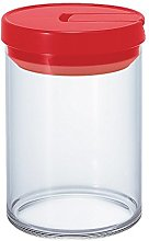Hario 800 ml Glass Canister, Red