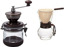 Hario Canister Coffee Grinder Olive Wood Drip Po