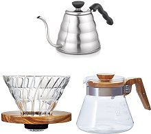 Hario Drip Kettle Large Olive Wood 02 Glass V60