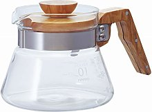 HARIO New Coffee Server 400 ml Olive Wood, 2 Cup