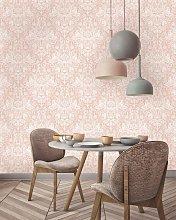 Harlen Woodland Dasmask Luxury Wallpaper - Coral