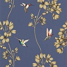 Harlequin Amazilia Wallpaper 111059 Colour Indigo