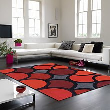 Harlequin HA10-007 Bubble Red Geometric Rug by