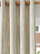 Harlequin Zendo Pair Lined Eyelet Curtains, Silver