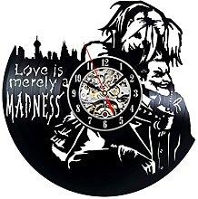 Harley Quinn and Joker Theme Vinyl Record Clock