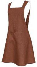 harmony textile - Linen Apron - linen | brick red