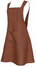 harmony textile - Linen apron - linen   brick red