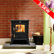 Harmston JA013S 5.5KW Multifuel Stove Clean Burn
