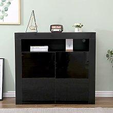Harper Black Gloss Sideboard Cabinet Cupboard