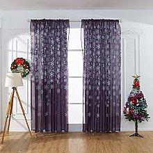 Harpily 1Pcs Snowflake Curtain Tulle Window