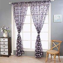 Harpily Lattice Sheer Curtain Tulle Window