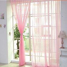 Harpily Net Curtain 1 Pcs Pure Color Tulle Door