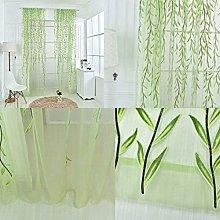Harpily Net Curtain, Green Willow Offset Print