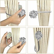 Harpily Pair Of Magnetic Crystal Curtain Tie Backs