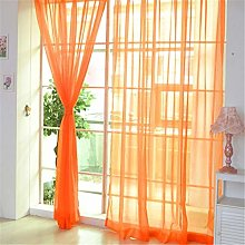 Harpily Sheer Curtain, 2 Pcs Pure Color Tulle Door
