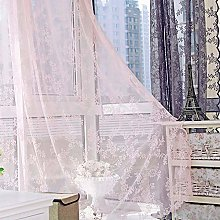Harpily Sheer Curtain Tulle Warp Double Lace