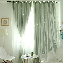 Harpily Starry Sky Sheer Voile Curtain Tulle