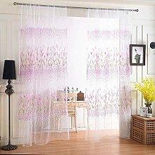 Harpily Window Curtain, Tulle Window Curtain Voile