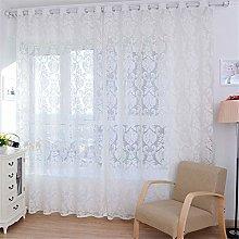 Harpily Window Curtain White European Style Tulle