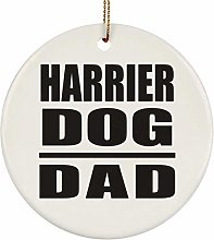 Harrier Dog Dad - Circle Ornament Christmas Tree
