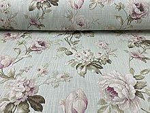 Harriet Cottage Rose Duckegg Pink Cotton 140cm