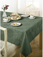Harriotte Wine Damask Rose Table Cloth Marlow Home