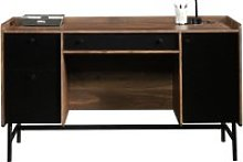 Harris Desk, Grand Walnut/Black