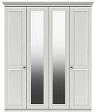 Harris Part Assembled 4 Door Mirrored Wardrobe