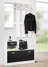 Harrison Hallway Shoe Storage In White And Black