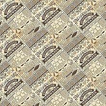 Harry Potter Fabric - Beige Quidditch Newspaper