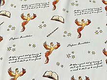 Harry Potter Fabric - White Phoenix Fabric - 100%