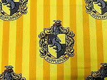 Harry Potter Fabric - Yellow Hufflepuff Fabric -