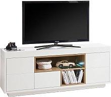 Hartland Lowboard TV Stand In Matt White And Oak