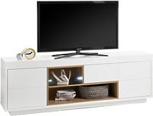 Hartland Lowboard TV Stand Wide In Matt White And