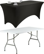 Hartleys Rectangular 6ft Folding Table And Black