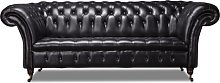 Harvard Leather 3 Seater Chesterfield Sofa