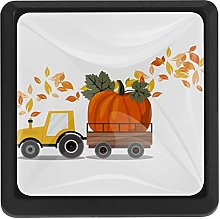 Harvest Truck with Pumpkin Square Cabinet Knobs