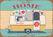 Harvesthouse My Other Home Is A Caravan! Metal Tin