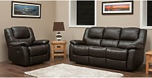 Harvey Reclining 3+1 Leather Sofa Suite Available