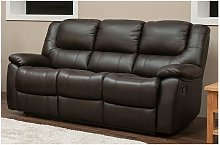 Harvey Reclining 3 Seater Leather Sofa Suite In