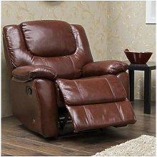 Harvey Reclining Armchair Leather Sofa Tabak