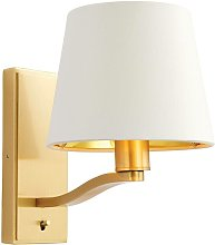 Harvey wall lamp, brushed gold