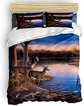 HARXISE 3 Pieces Duvet Cover Set Nature Wildlife