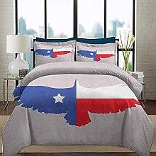 HARXISE Bedding Duvet Cover Set Texas Star Ultra