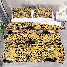 HARXISE Leopard Face Cool Animal Pattern Bedding