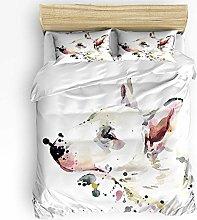 HARXISE Watercolor Animal Duvet Cover Sets, Soft