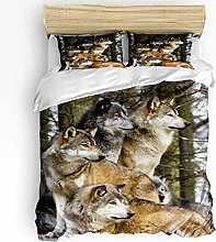 HARXISE Wild Animal Duvet Cover Sets, Soft and