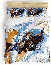 HARXISE Wildlife Animal 3 Piece Duvet Cover Set,